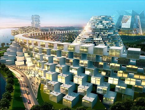 Awesome city structures at Ansan in South Korea
