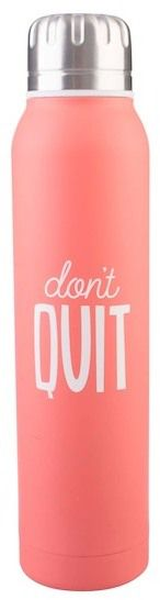 FORMATION BRANDS LLC Don't Quit 17 oz Stainless Steel Water Bottle - Pink