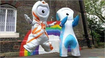 The 10 Most Ridiculous Mascots of All Time - is it just me, or do the London Olympic mascots look like the offspring of Kang/Kodos and Leela??