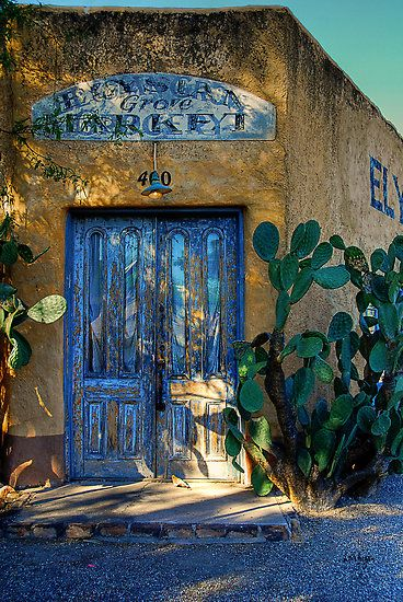 Elysian Grove Market ~ Tucson ArizonaBeds, Blue Doors, Tucson Arizona, Colors, Southwestern Style, Buildings, Wood Architecture, Deserts, Entrance