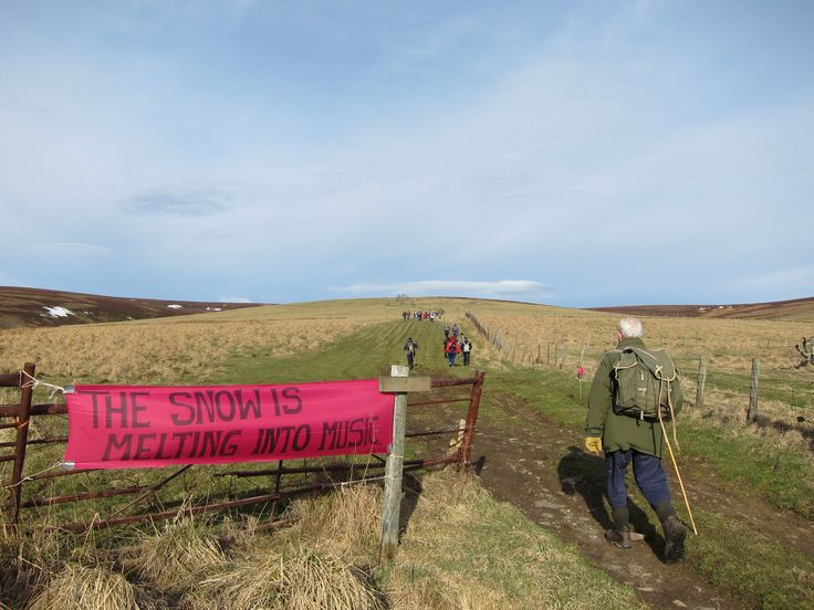Heading up to Dead Wife's Hillock, Cabarch at the beginning of the Slow Marathon.