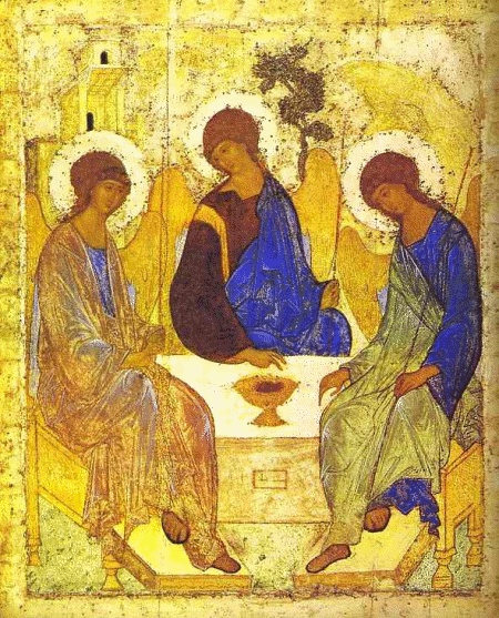 Another famous Ryssian Icon - The Holy Trinity - by Andrei Rublev in the early 1400's