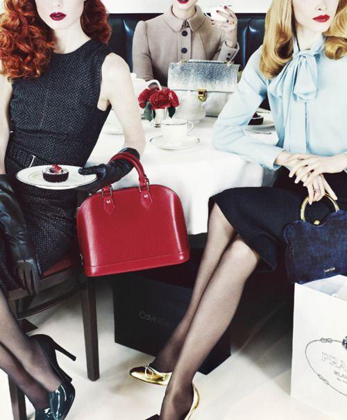 Ladies at lunch, V Magazine