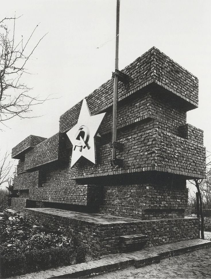 Monument to Rosa Luxemburg and Karl Liebknecht [Revolutionsdenkmal] (built 1926, destroyed 1935), designed by pioneering modernist and later Bauhaus director Ludwig Mies van der Rohe. Photo by famous...