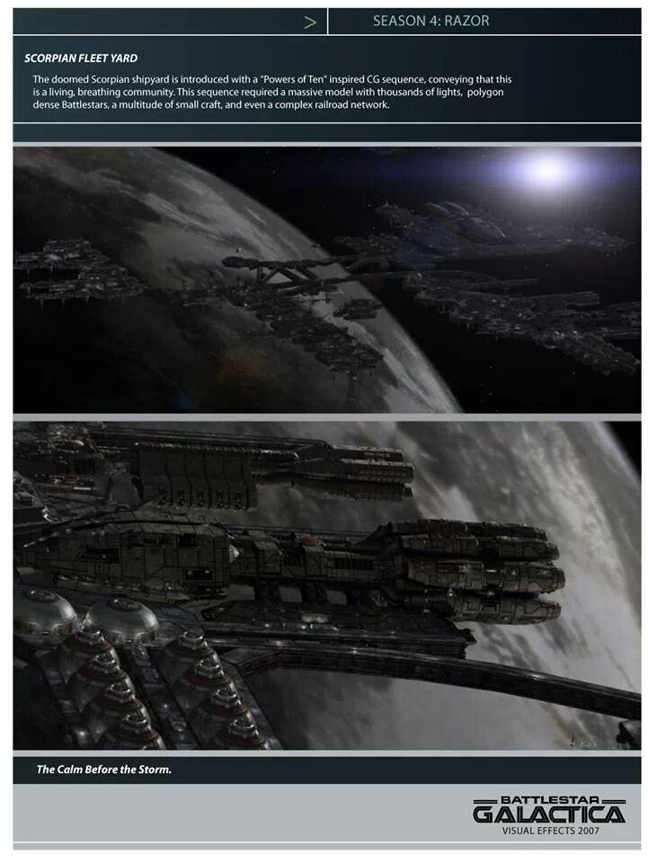 Pegasus at Scorpion Fleet Yard, Battlestar Galactica: Razor