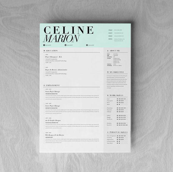 Custom Resume CV Design Template Cover Letter by OddBitsStudio, $18.80
