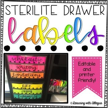 These editable Black and White labels look amazing printed on BRIGHT paper! I am always looking for ways to improve my classroom organization, supply management, and to calm the paper chaos and these labels can help with that! These are made for the Sterilite 3-Drawer