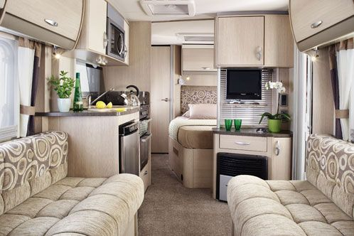 I love this!!! 2011 Sterling Eccles Ruby Touring Caravan Interior