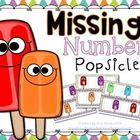 This {FREE} activity works on missing numbers 1-20. Each activity card is missing 2 numbers. Use the popsicle cards to add the missing number to th...