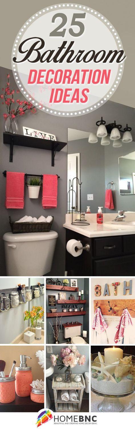 Ideas for Bathroom Decorating- #'s 8, 12, 13, 21, & 24