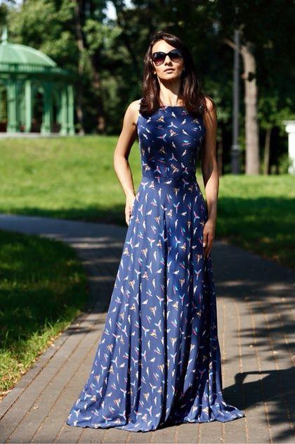 Платье с птицами купить