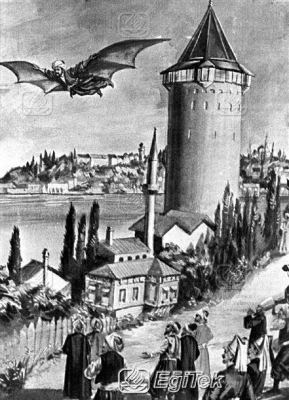 Bilhassa hava akımları ve kuşların uçuşunu inceleyerek çalışmalarını geliştirdi.  Nihayet tarihi uçuşunu yapmak üzere Okmeydanı'na gelen Ahmet Çelebi'yi seyreden  Sultan Murat Han da Sarayburnu'ndaki Sinan Paşa Köşkü'nde yerini almıştı. İbtida Okmeydanı'nın minberi üzere rüzgarın şiddetinde kartal kanatlarıyla sekiz, dokuz kere havada pervaz ederek talim etmiştir. Daha sonra Galata Kulesi'nin en yüksek noktasına çıktı ve kendini boşluğa bırakıverdi. Kalk dehşet içinde manzarayı seyrediyordu.
