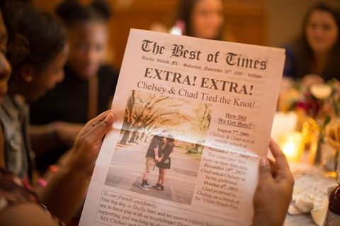 Personalized Newspaper Wedding Announcement