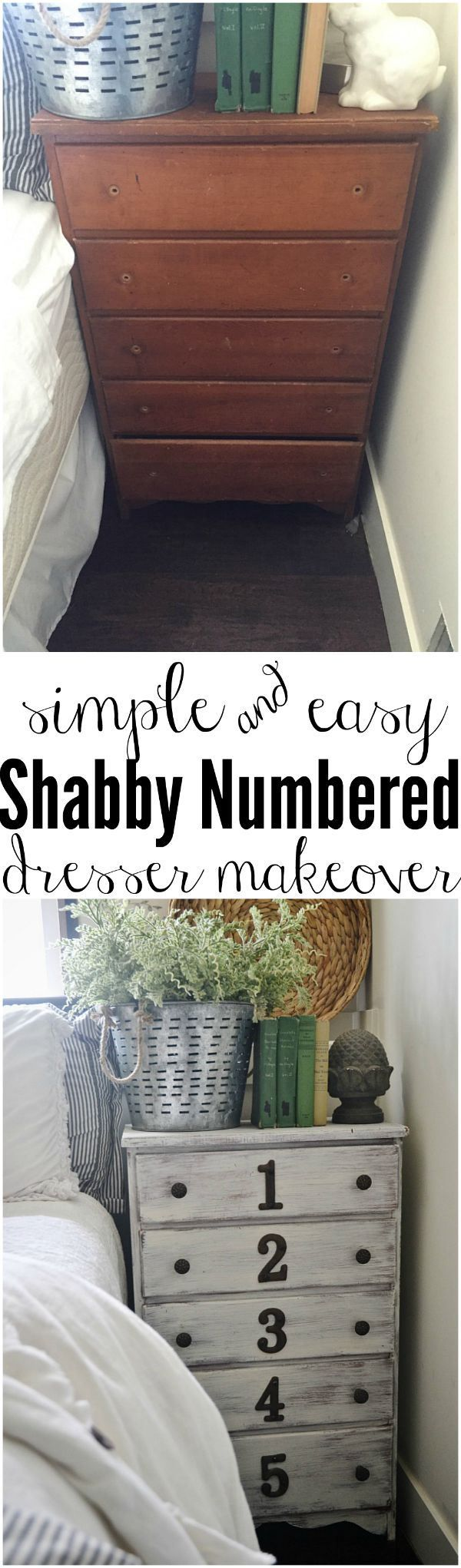 Simple shabby dresser makeover - A how to get this look at Liz Marie Blog @lizmariegalvan