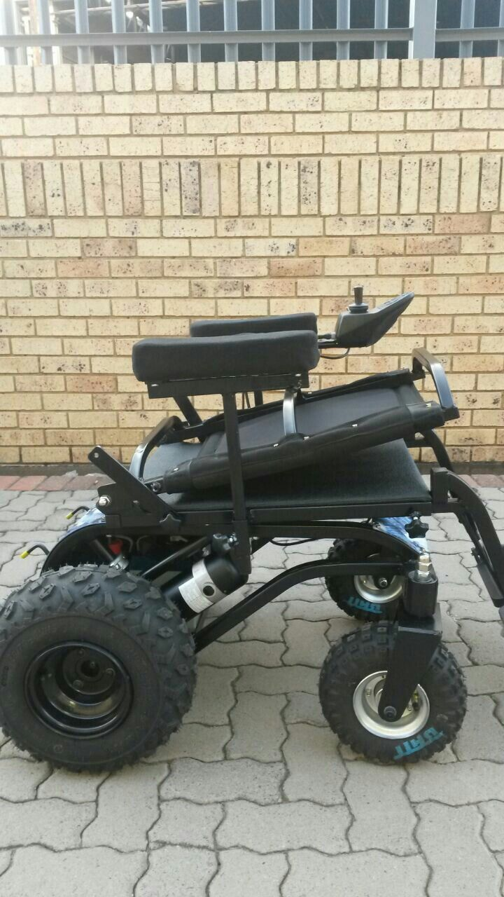 The cool Dassie 200 M with The Extreme conversion and folding backrest