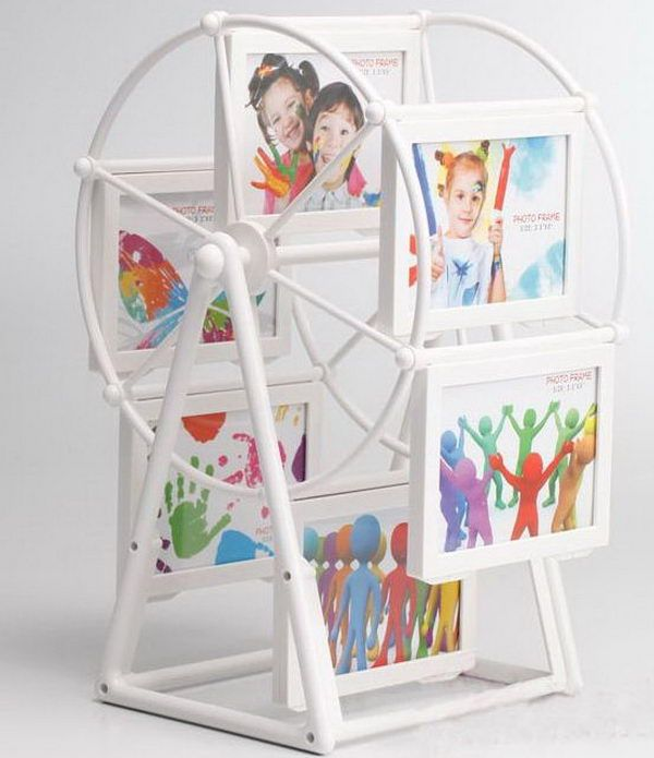 4 windmill rotating photo frames http://hative.com/creative-photo-frame-display-ideas/