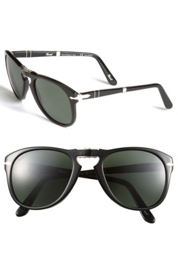 ef695acf235 PERSOL  714  57MM FOLDING POLARIZED KEYHOLE SUNGLASSES - BLACK POLARIZED.   persol