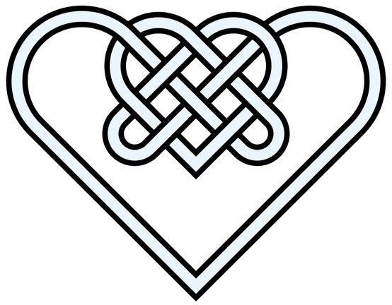 Double-heart - celtic knot - 10 crossing                                                                                                                                                                                 Mehr