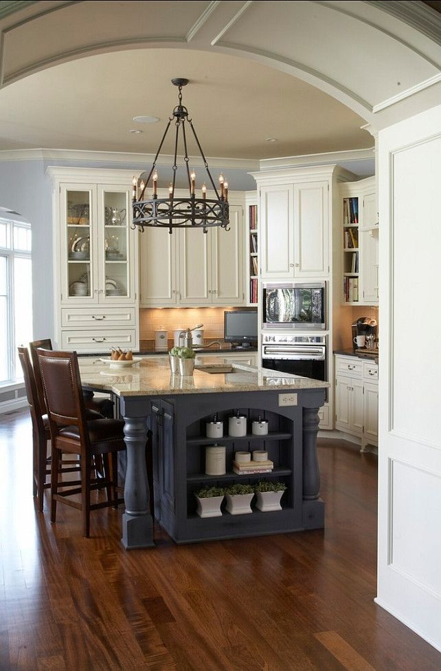 good Kitchen Island Different Color #6: Kitchen Island Paint Color. Benjamin Moore Brewster Gray #BenjaminMoore  #BrewsterGray