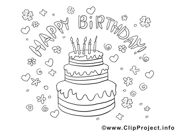 148 besten Happy Birthsday coloring Bilder auf Pinterest
