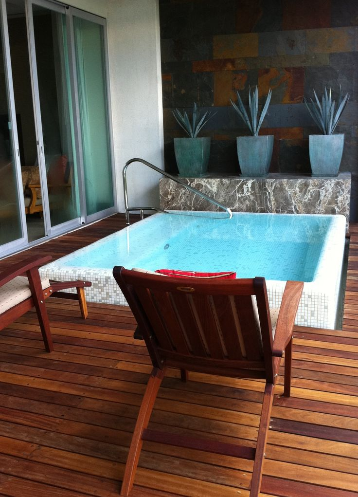 Mexican plunge pool right outside the master bedroom