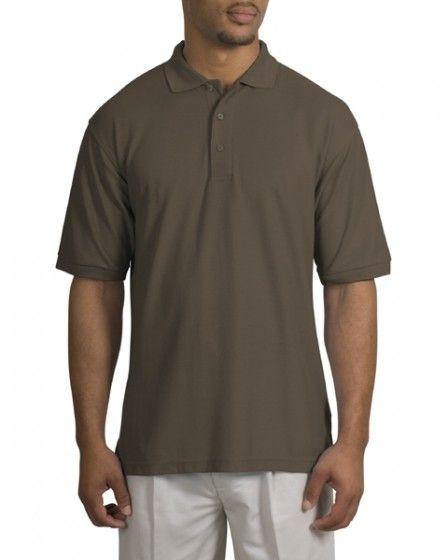 Big Mens Silk Touch Sport Shirt by Port Authority® - XL (1X) ( Bark )