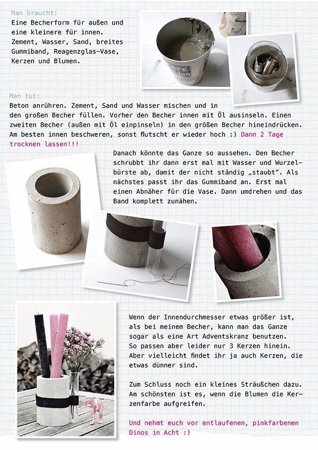 Ynas Design Blog, DIY Projekt · Beton GießenDiy ...