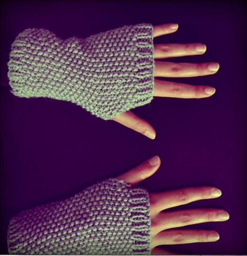 modele tricot mitaine sans pouce