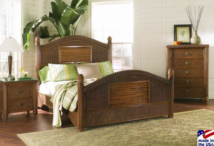 19 Best Images About Tropical Rattan And Wicker Bedroom