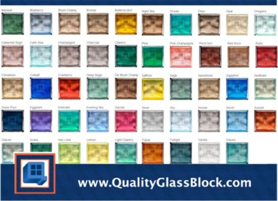 30 best images about quality glass block color blocks on for Glass block options