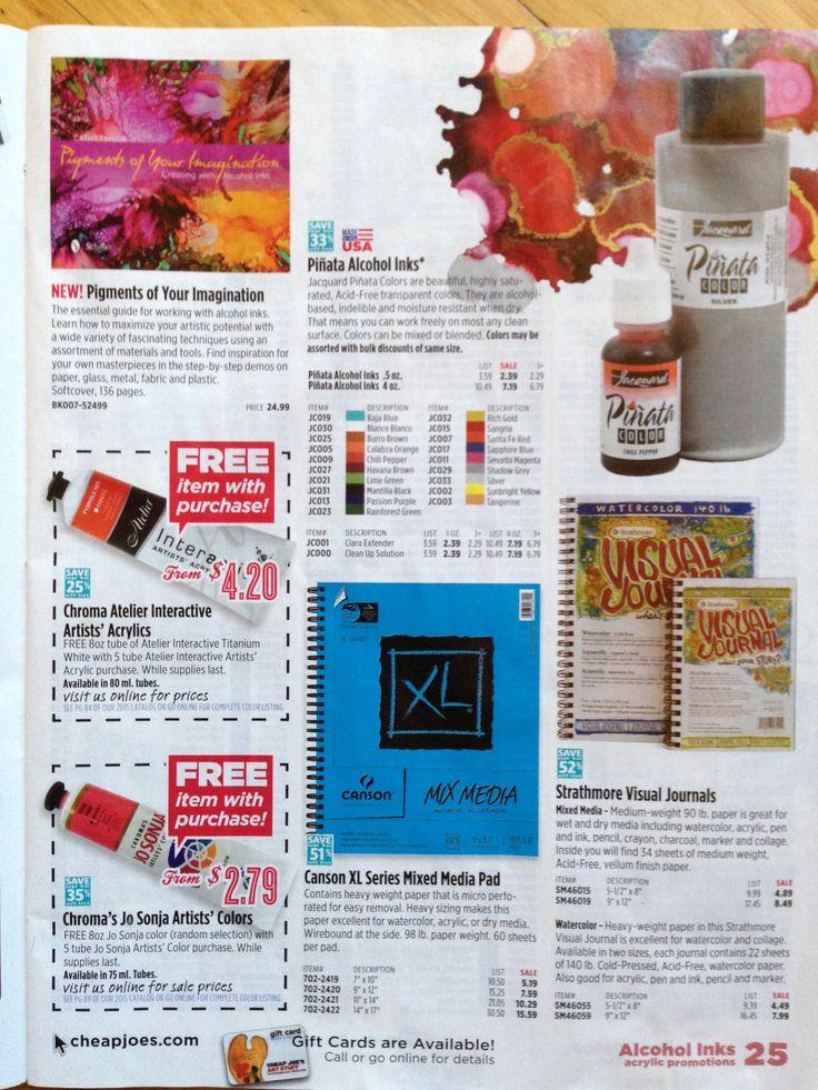 cheap joes art stuff spring 2016 catalog