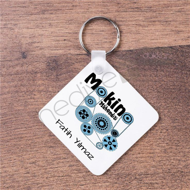 Makine Mühendisi İçin Hediye Anahtarlık