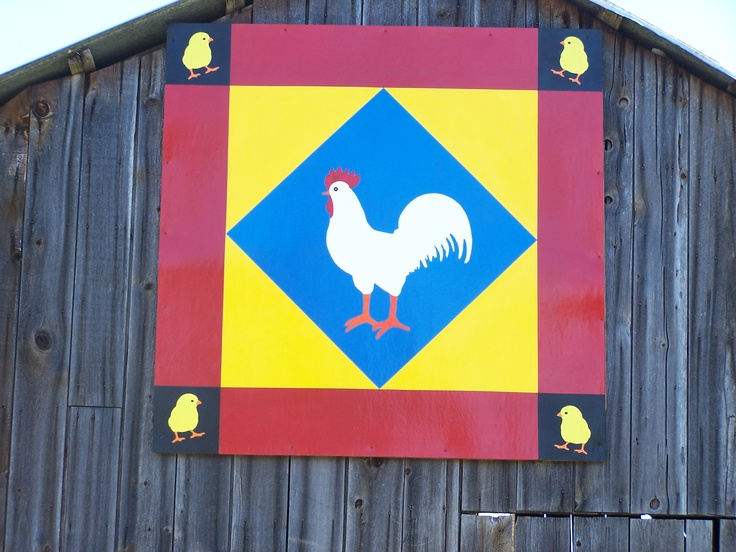 "Our ""original"" quilt block square that we put on the old barn..."