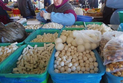 Uzbekistan food - kurt (yogurt)