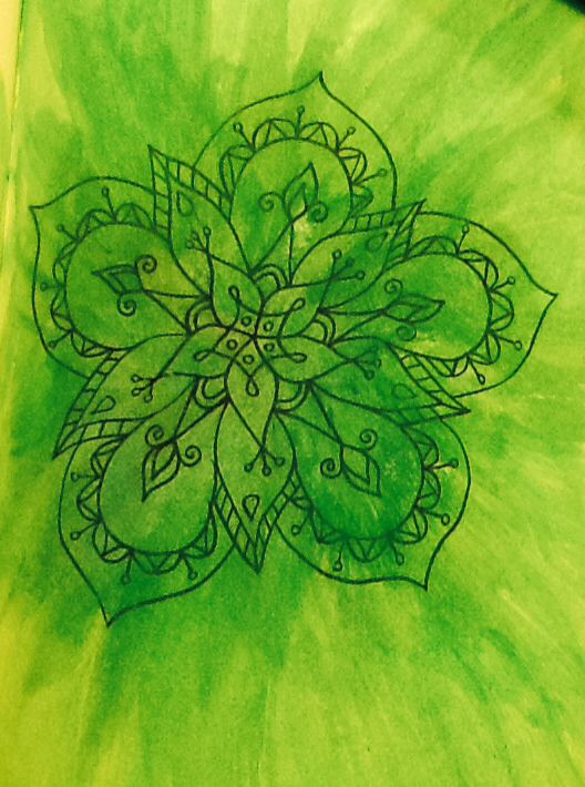 #flower #green #painting