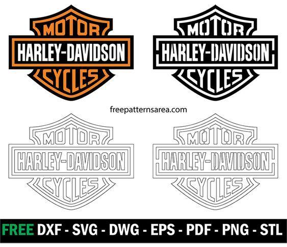 Harley Davidson Logo Stencil Vector