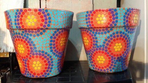 1000 images about macetas de barro pintadas on pinterest - Macetas de cemento ...