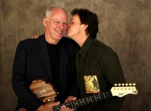 Paul McCartney and David Gilmour