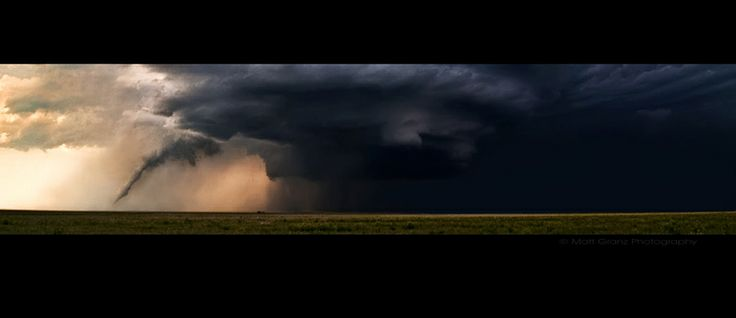 The Twister and the Mothership by Matt Granz, via 500px - Boise City, OK  #storm
