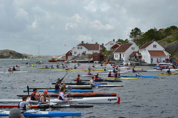 Each year a paddling race is arranged in Brekkestø, Lillesand, Southern Norway. The competition attracts paddlers from all over the region. Olympic winner Eirik Larsen Verås has participated in the race. www.blindleialopet.no