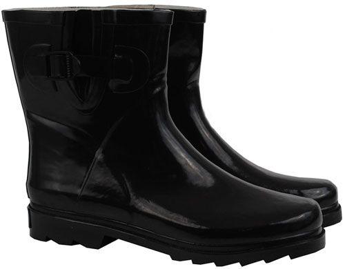 Black Short Wellies Gumboots Rainboots....$44.95