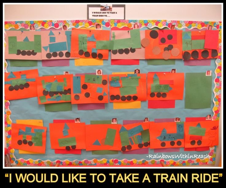 In Preschool Art Project For Transportation Theme Bulletin Board