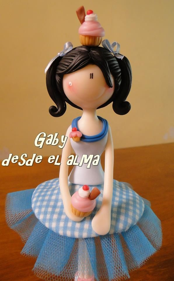 Polymer clay porcelana fria masa flexible pasta francesa biscuit fimo modelado modelling figurine topper fondant