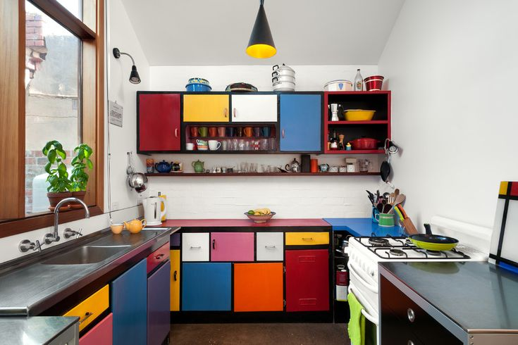 Latest Kitchen Decorating Ideas With Colorful Cabinets