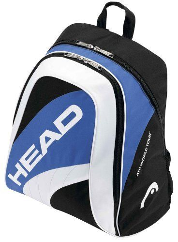 Head ATP Back Pack Tennis Racquet Bag by HEAD. $34.95. Head hold the worldwide racket bag license of the ATP, a fact that highlights the quality of Head tennis bags. This ATP series of bags offer brilliant functionality and strong design at an affordable and accessible level.Made from 100% polyester, this bag has a large main compartment as well as a racket compartment capable of carrying up to one to three rackets.*Dimensions: 34 x 23 x 44 cm