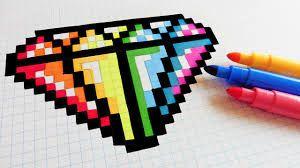 """Résultat de recherche d'images pour """"pixel art facile kawaii diamant"""""""