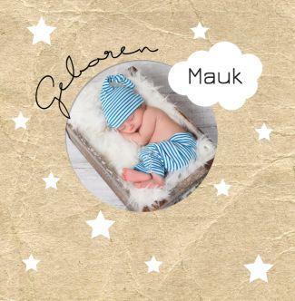 Marine geboortekaartje met eigen foto. Gebruik deze kaart en maak hiervan zelf je eigen persoonlijke geboortekaartje. Wil je de kaart door ons laten opmaken? Geen probleem, wij helpen je graag!