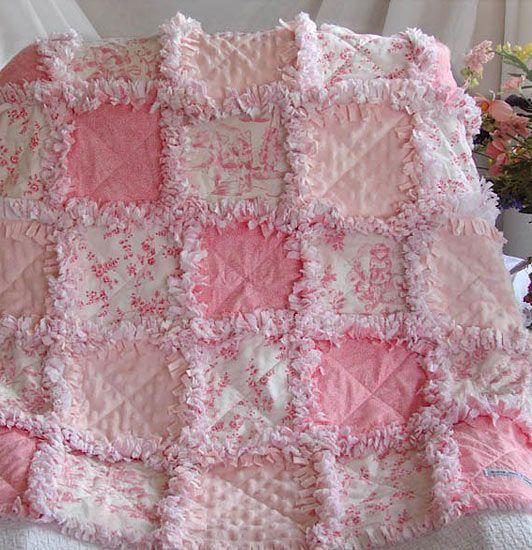 pink rag quilt idea - Polka Pics