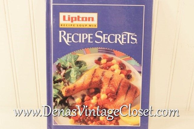 Vintage 1995 Lipton Recipe Soup Mix Recipe Secrets