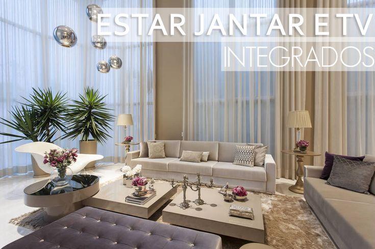 Salas integradas, tv e sala de jantar – maravilhoso! Confira todos os detalhes!   – Apartamento